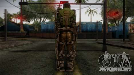 Army Exoskeleton para GTA San Andreas segunda pantalla