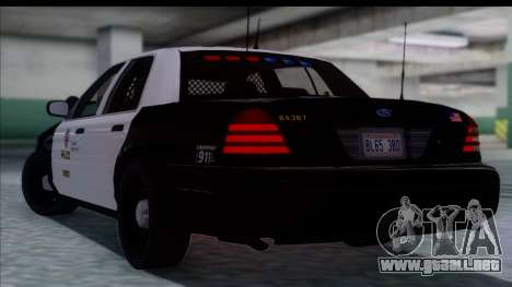 LAPD Ford Crown Victoria Slicktop para GTA San Andreas left