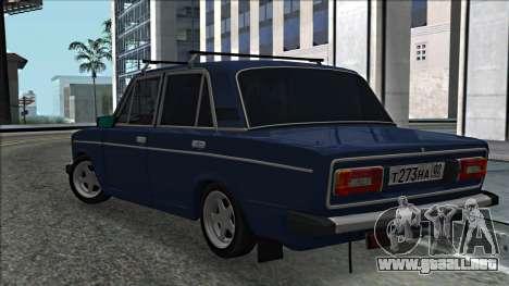 ВАЗ 2106 estilo ruso 2.0 para GTA San Andreas vista posterior izquierda