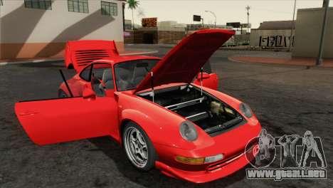 Porsche 911 GT2 (993) 1995 [HQLM] para GTA San Andreas vista hacia atrás