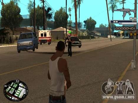 CLEO HUD Spiceman para GTA San Andreas segunda pantalla