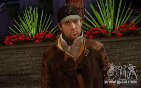 Aiden Pearce from Watch Dogs v12 para GTA San Andreas tercera pantalla