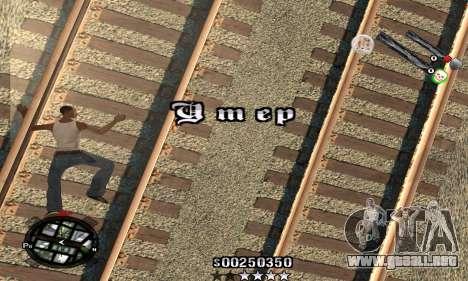 C-HUD Classic para GTA San Andreas sucesivamente de pantalla