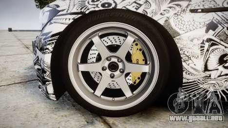 BMW 1M 2011 Sharpie para GTA 4 vista hacia atrás