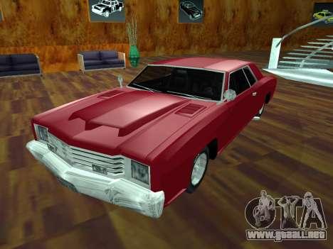 Buccaneer Turbo para visión interna GTA San Andreas
