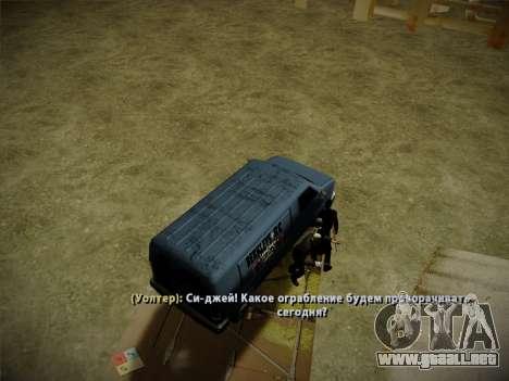 Sistema de robos v4.0 para GTA San Andreas octavo de pantalla