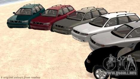 Daewoo Nubira me Vagón CDX NOSOTROS 1999 para GTA San Andreas interior