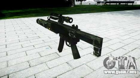 Táctica subametralladora MP5 destino para GTA 4 segundos de pantalla
