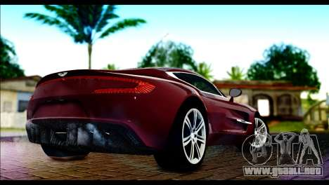 Aston Martin One-77 Black and Red para GTA San Andreas left
