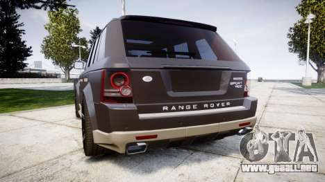 Range Rover Sport Kahn Tuning 2010 para GTA 4 Vista posterior izquierda