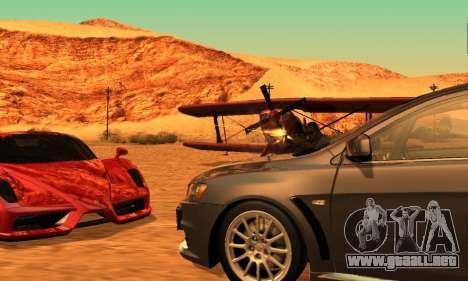 ENB Series para bajos PC 2.0 para GTA San Andreas sucesivamente de pantalla