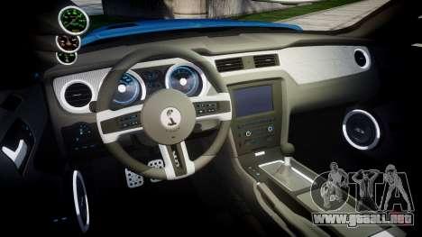 Ford Mustang Shelby GT500 2013 Sharpie para GTA 4 vista interior