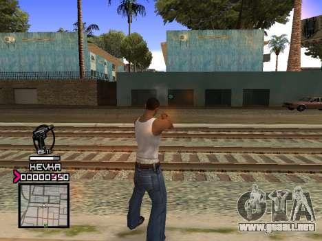 C-HUD by Kevka para GTA San Andreas tercera pantalla