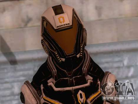 Cerberus Female Armor from Mass Effect 3 para GTA San Andreas tercera pantalla