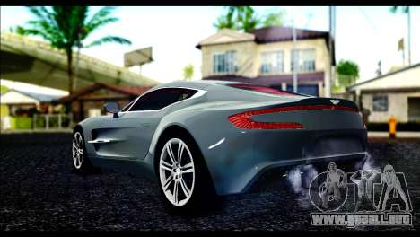Aston Martin One-77 Red and Black para GTA San Andreas left