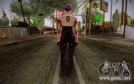 Halia from Mass Effect 2 para GTA San Andreas segunda pantalla