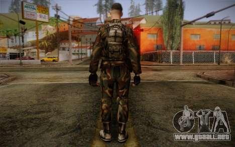 Soldier Skin 1 para GTA San Andreas segunda pantalla