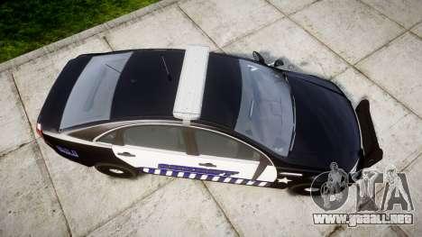 Chevrolet Caprice 2012 Sheriff [ELS] v1.1 para GTA 4 visión correcta