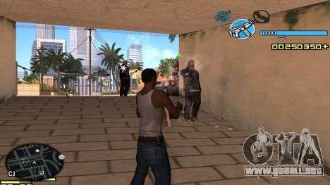 C-HUD Blue para GTA San Andreas tercera pantalla