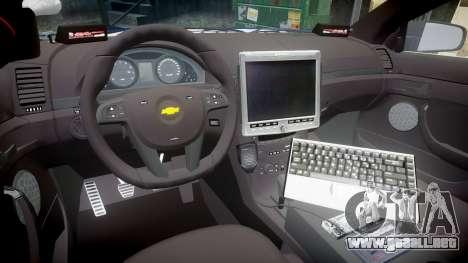 Chevrolet Caprice 2012 LCPD [ELS] v1.1 para GTA 4 vista hacia atrás