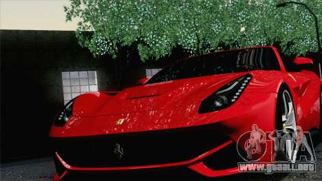 Ferrari F12 Berlinetta 2013 para GTA San Andreas vista hacia atrás