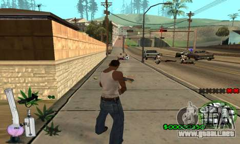 C-HUD Canabis para GTA San Andreas sucesivamente de pantalla