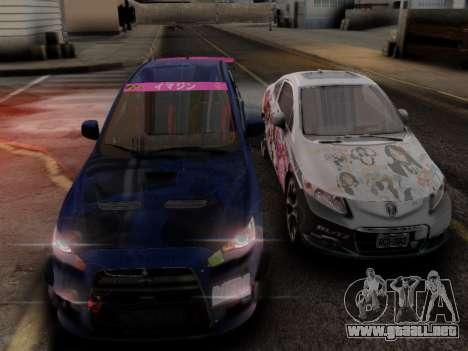 ENB Hans Realistic 1.0 para GTA San Andreas sucesivamente de pantalla