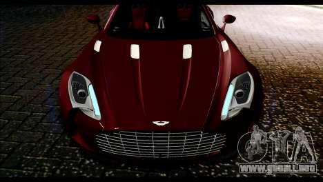 Aston Martin One-77 Black and Red para la visión correcta GTA San Andreas