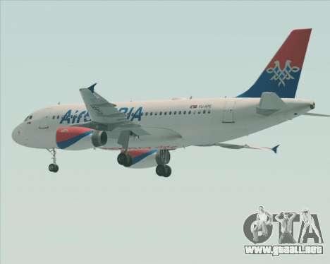 Airbus A319-100 Air Serbia para las ruedas de GTA San Andreas