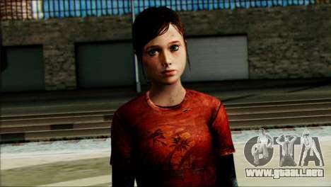 Ellie from The Last Of Us v1 para GTA San Andreas tercera pantalla