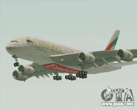 Airbus A380-800 Emirates 40 Anniversary Sticker para vista inferior GTA San Andreas