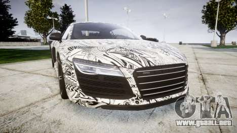 Audi R8 plus 2013 HRE rims Sharpie para GTA 4