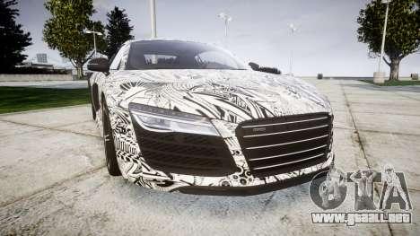 Audi R8 plus 2013 HRE rims Sharpie para GTA 4