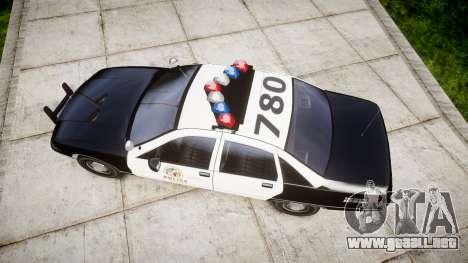 Chevrolet Caprice 1991 LAPD [ELS] Traffic para GTA 4 visión correcta