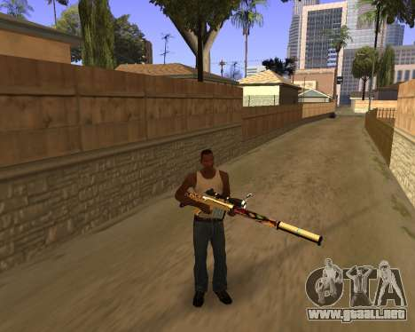 Graffity Weapons para GTA San Andreas segunda pantalla