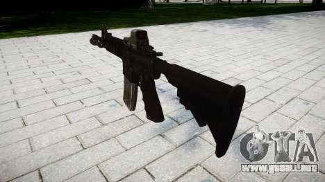 Tácticas de asalto M4 rifle Black Edition de des para GTA 4 segundos de pantalla