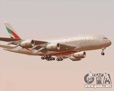 Airbus A380-800 Emirates 40 Anniversary Sticker para vista lateral GTA San Andreas