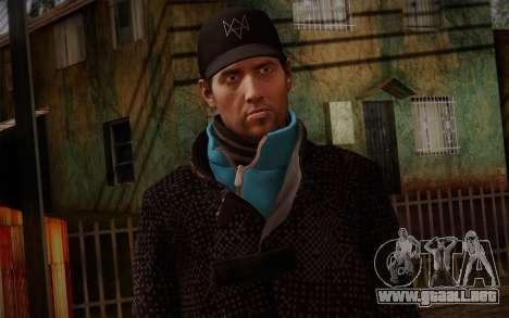 Aiden Pearce from Watch Dogs v9 para GTA San Andreas tercera pantalla