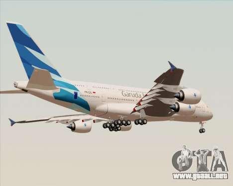 Airbus A380-800 Garuda Indonesia para vista inferior GTA San Andreas