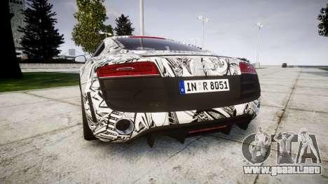 Audi R8 plus 2013 Wald rims Sharpie para GTA 4 Vista posterior izquierda
