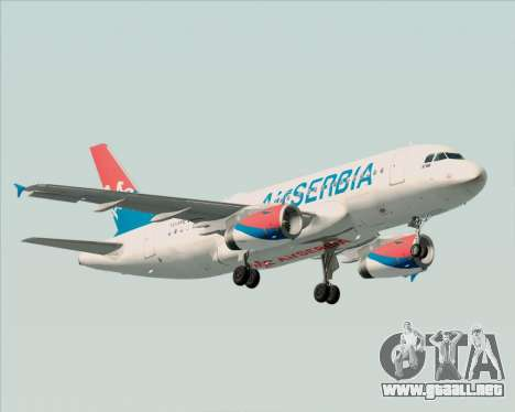 Airbus A319-100 Air Serbia para GTA San Andreas left