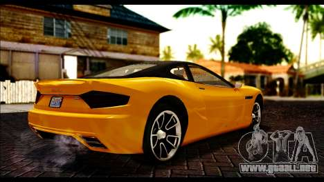 GTA 5 Hijak Khamelion para GTA San Andreas vista posterior izquierda