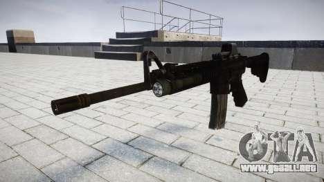 Tácticas de asalto M4 rifle Black Edition de des para GTA 4