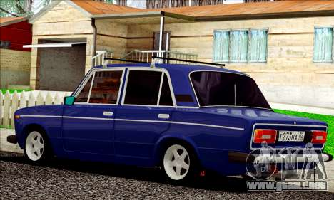 ВАЗ 2106 estilo ruso para GTA San Andreas vista posterior izquierda