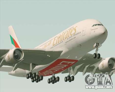 Airbus A380-800 Emirates 40 Anniversary Sticker para el motor de GTA San Andreas