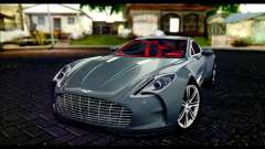 Aston Martin One-77 Red and Black para GTA San Andreas