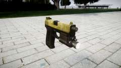 La pistola HK USP 45 de oliva