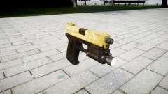 La pistola HK USP 45 de oro