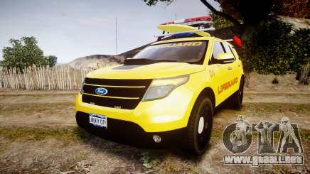Ford Explorer 2013 Lifeguard Beach [ELS] para GTA 4