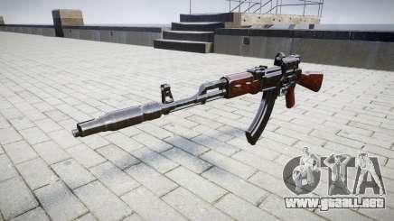 Автомат АК-47 Colimador y el Hocico de freno de destino para GTA 4